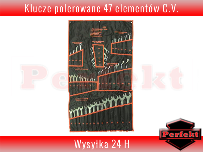 22b8b4c87adfaf KLUCZE PŁASKO OCZKOWE ZESTAW KLUCZY TORX GIĘTE 47 elementów